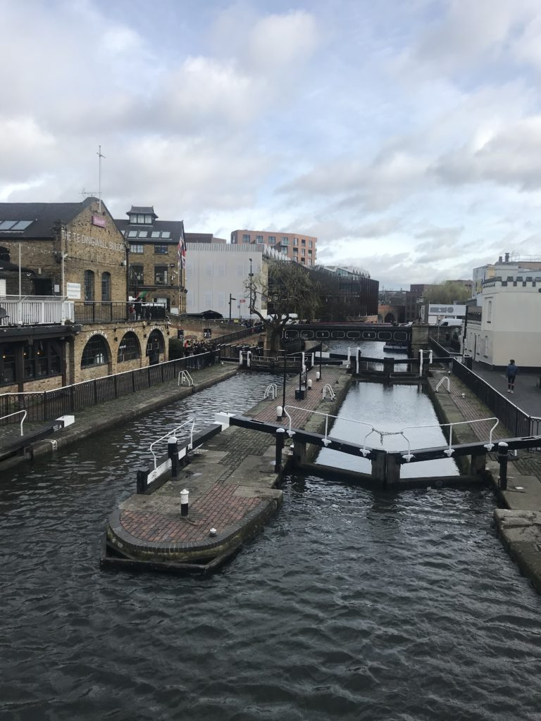 Camden lock on a slightly cloudy day