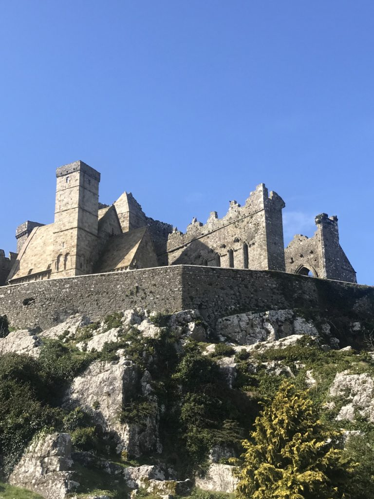 Rock of castle up in the sun