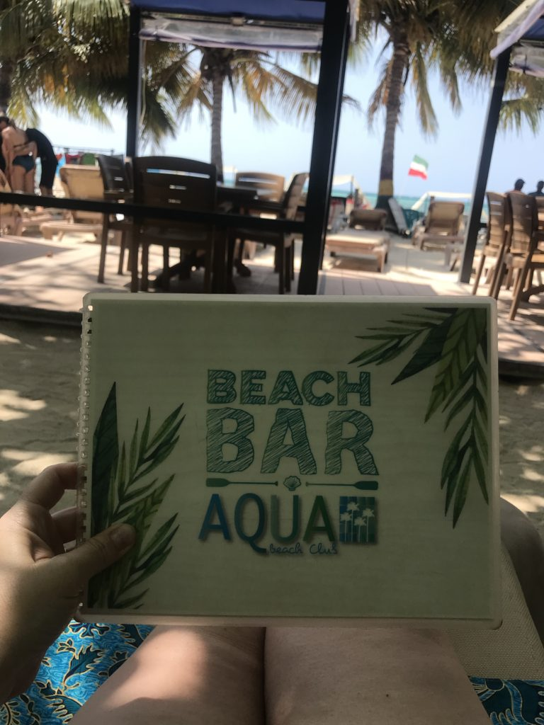 Sig for a beach bar- Aqua Bar