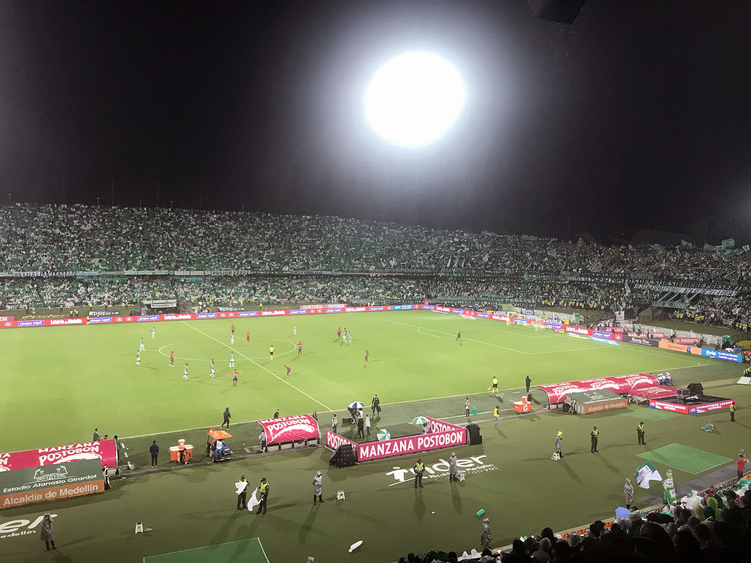 Football (soccer) game in stadiums in Medellin Colombia