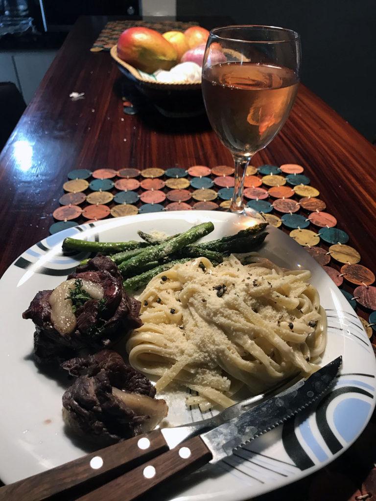 delicious homemade dinner