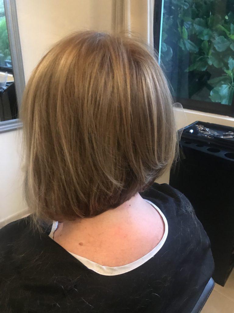 The back of my new bob haircut!